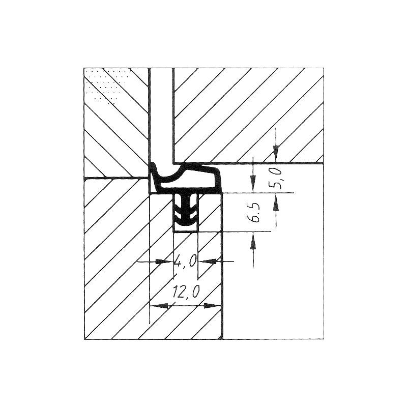 Perfil de borracha para vedação de portas Forma H - 2