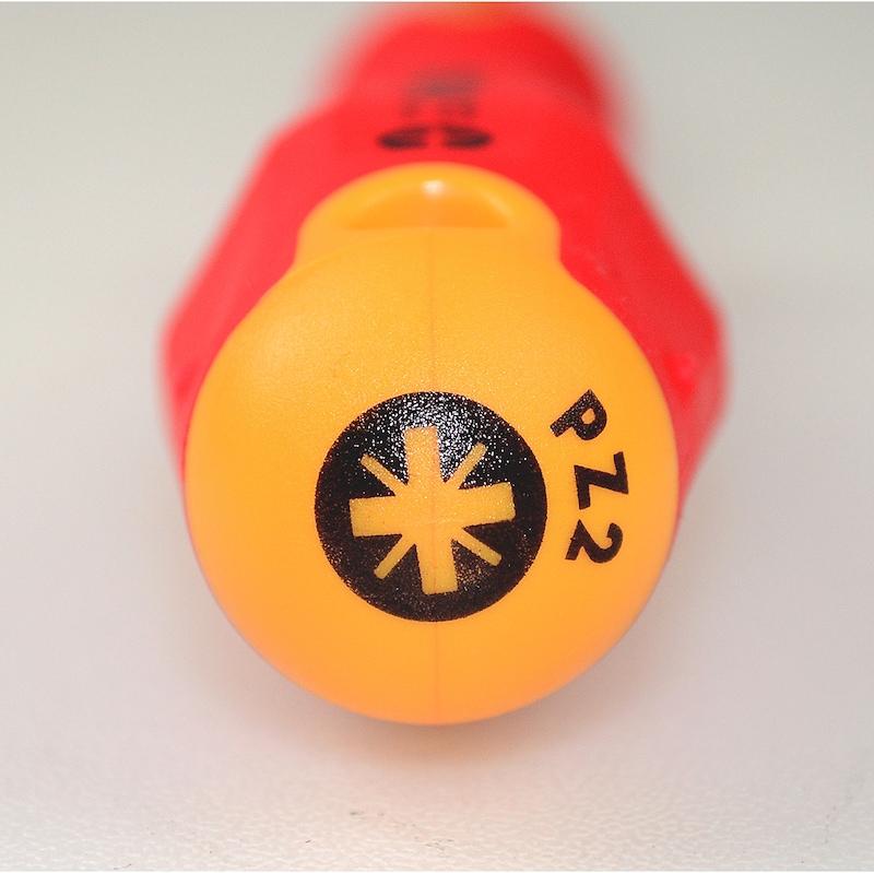 Отвертка VDE с головкой под крестообразный шлиц PZ, 3-компонентная тонкая рукоятка 3-компонентная рукоятка, тонкая - ОТВЁРТКА ДИЭЛЕКТР.-VDE-E-SLIM-3C-PZ2X100