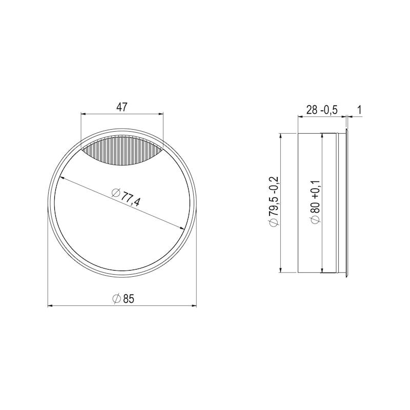 Kabeldurchlass zweiteilig - 2