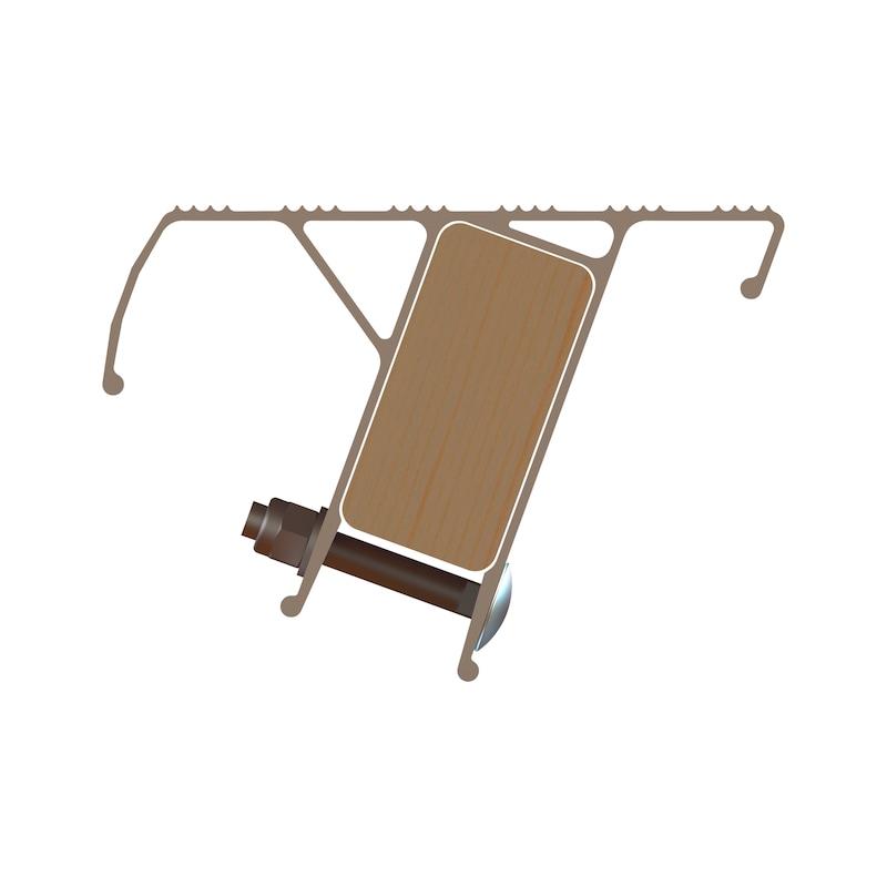 Nachrüst-Stufe für Holz-Sprossen-Stehleitern/Hybrid-Leitern - 3