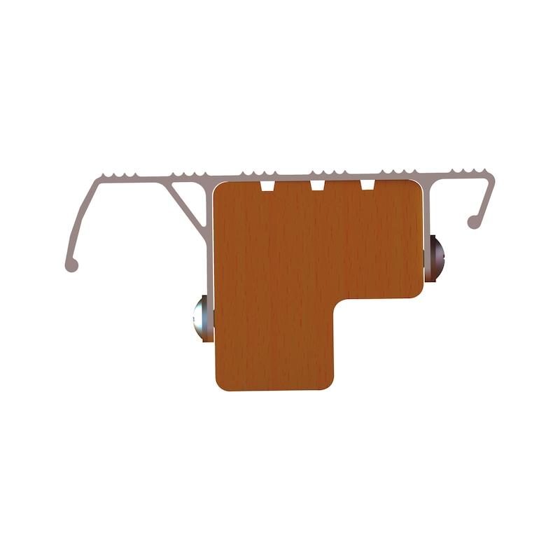 Nachrüst-Stufe für Holz-Sprossen-Stehleitern/Hybrid-Leitern - 4