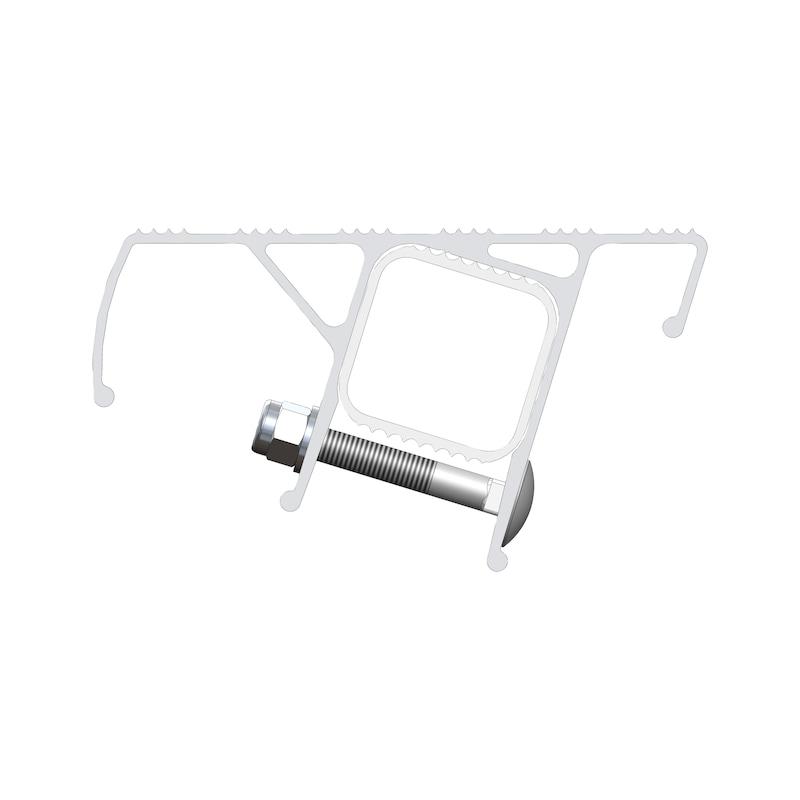 Nachrüst-Stufe für Alu-Sprossen-Anlegeleitern - 3