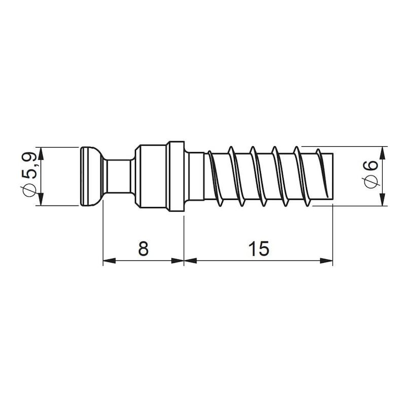 Systembolzen für KALTSCHMELZ<SUP>®</SUP>-Dübel Exzenter - 2