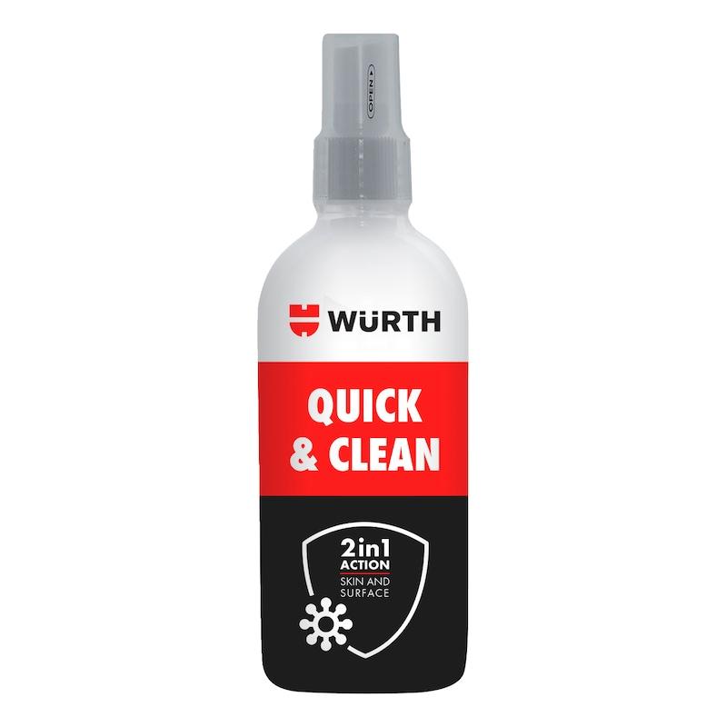 Fertőtlenítőszer Quick & Clean - QUICK CLEAN KÉZFERTŐTLENÍTŐ 100 ML