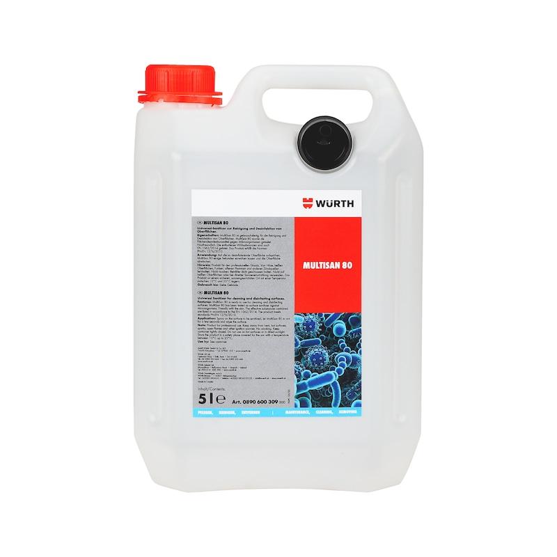 Sanitiser MultiSan 80 - SRFDISINF-(D3001)-5LTR