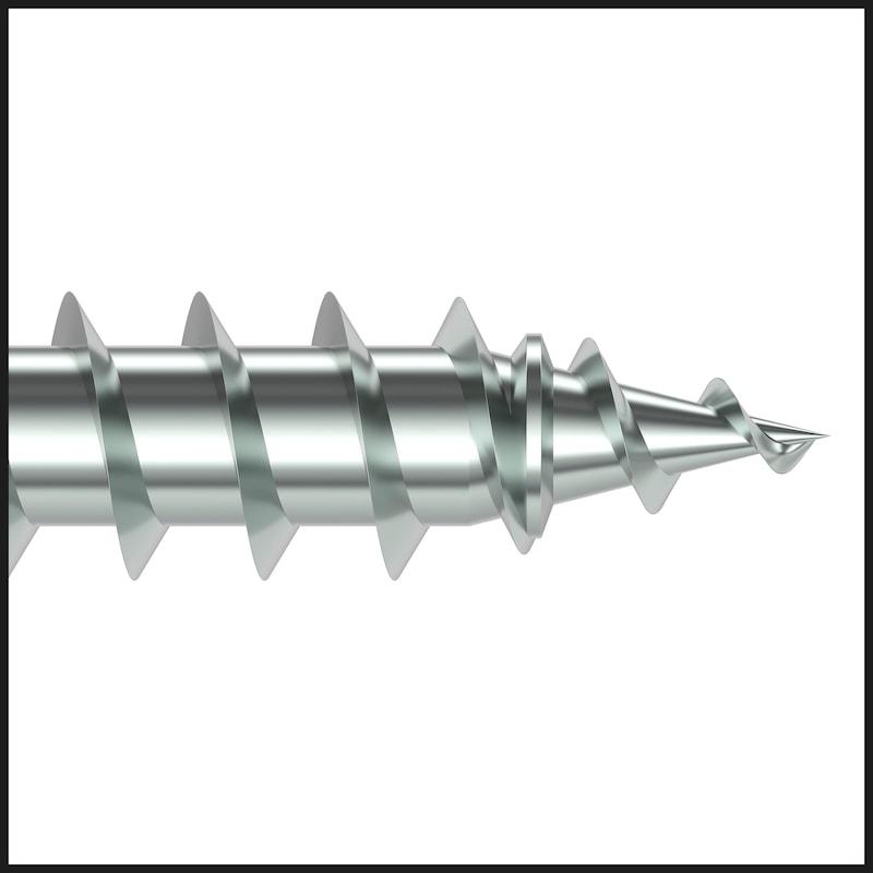 ASSY<SUP>®</SUP> 4 FBS RCS RS Rollensortierte Fensterbauschraube Stahl verzinkt Vollgewinde Linsensenkkopf - 7