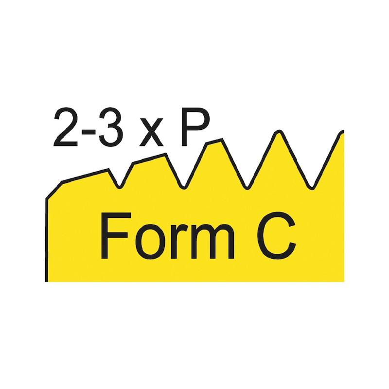 Gewindeformer für Drahtgewindeeinsätze W.TEC® INSERT COIL - aus HSCo; Form C - 2
