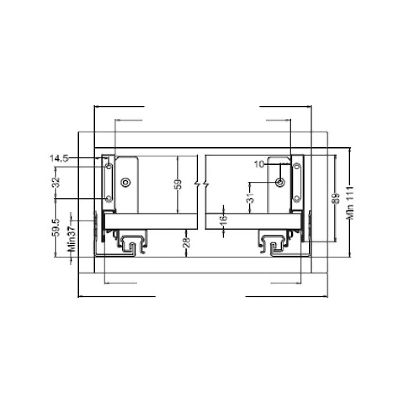 Gaveta slidebox H89 Gaveta metálica fina - 5