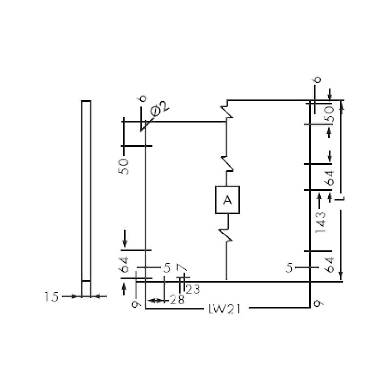 Gaveta slidebox H121 Gaveta metálica fina - 2