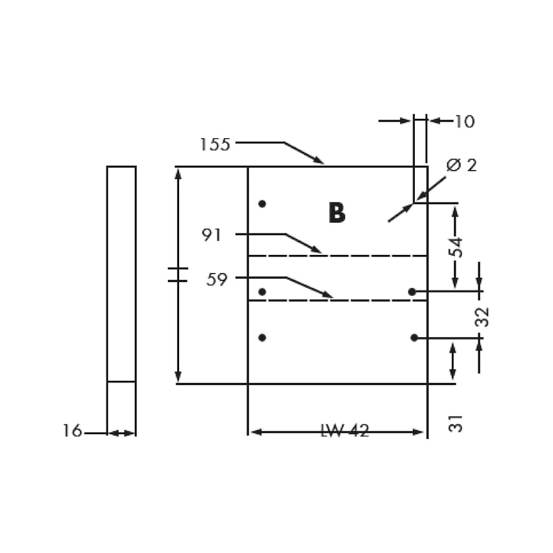 Gaveta slidebox H121 Gaveta metálica fina - 3