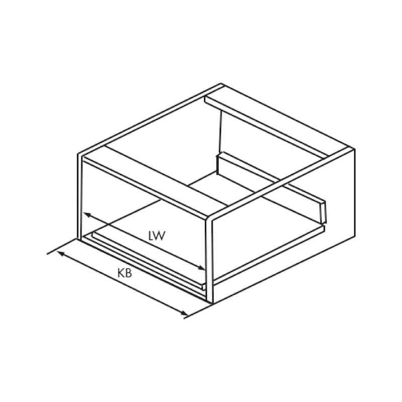 Gaveta slidebox H121 Gaveta metálica fina - 4