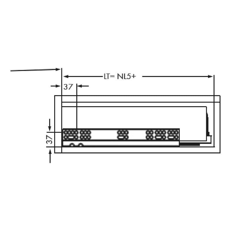 Gaveta slidebox H121 Gaveta metálica fina - 5