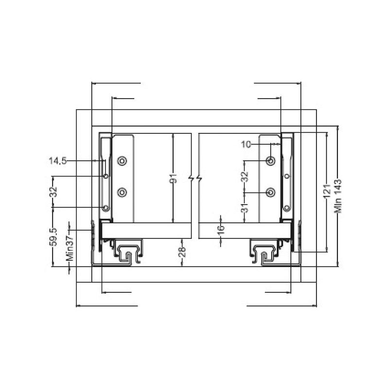 Gaveta slidebox H121 Gaveta metálica fina - 6
