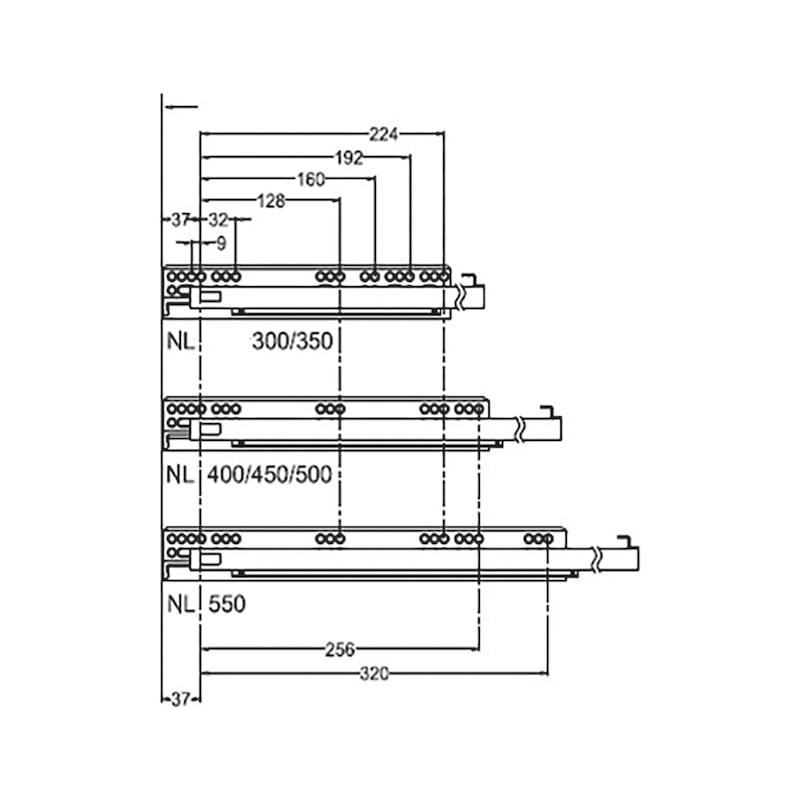 Gaveta slidebox H121 Gaveta metálica fina - 7