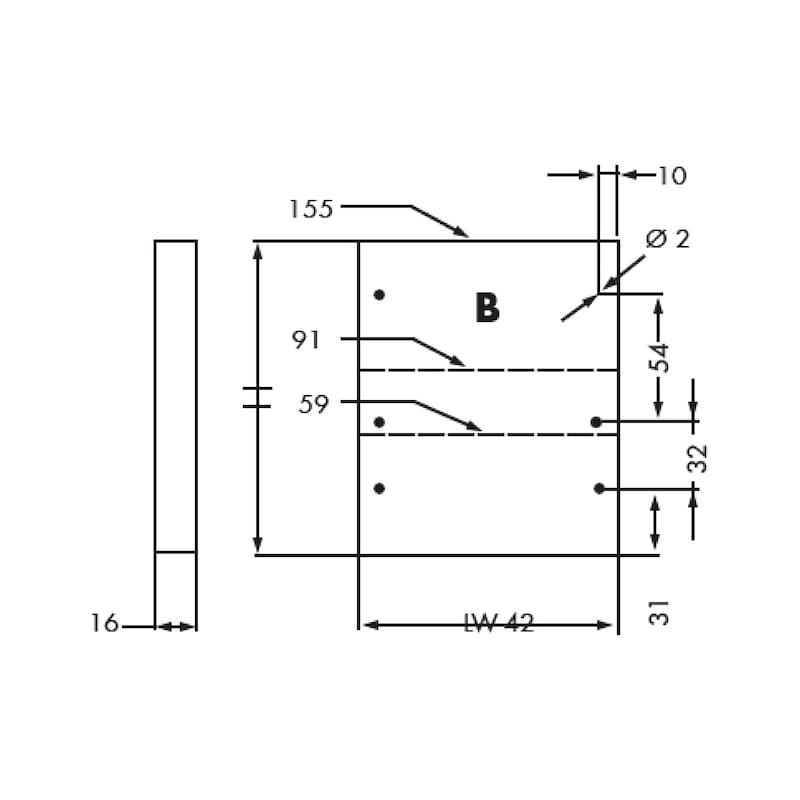 Gaveta slidebox H185 Gaveta metálica fina - 2