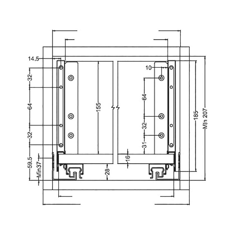 Gaveta slidebox H185 Gaveta metálica fina - 6