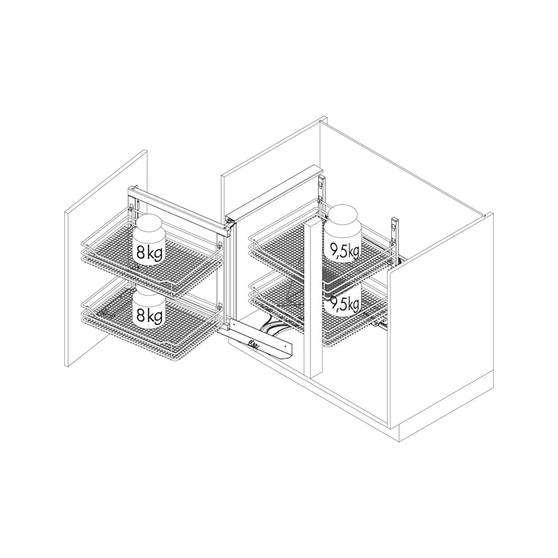 Eckschrankbeschlag VS COR Fold  - 3