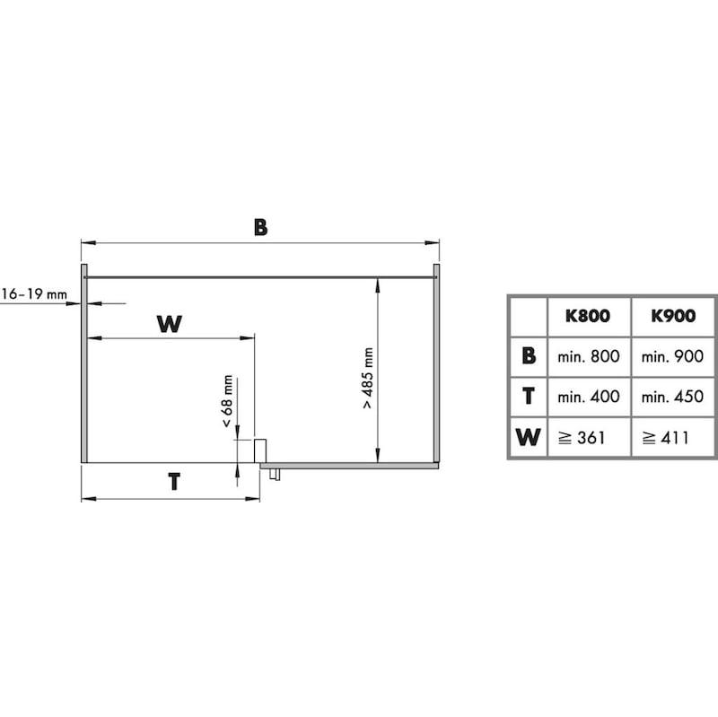 Eckschrankbeschlag VS COR Fold  - 2
