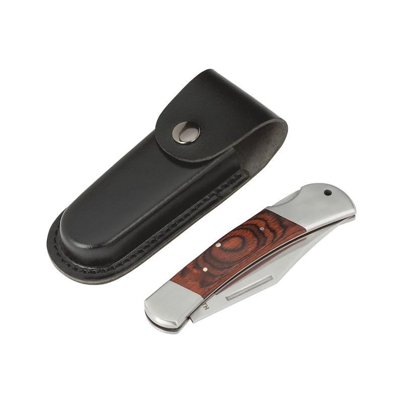 ポケットナイフ、木製ハンドル - ポケットナイフ-L120MM