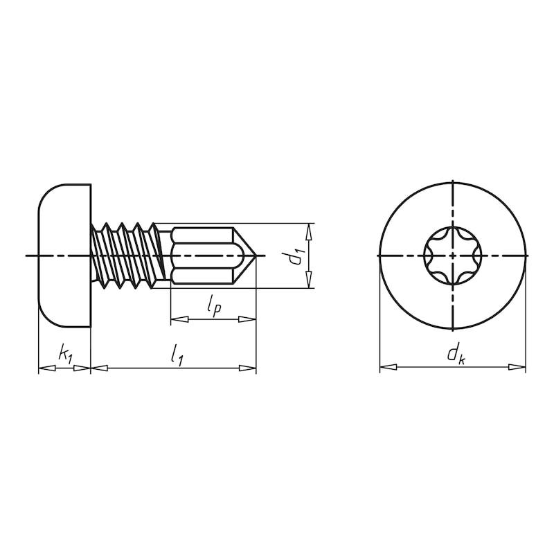 Bohrschraube Flachkopf mit AW-Antrieb und Minipoint pias<SUP>®</SUP> - 2