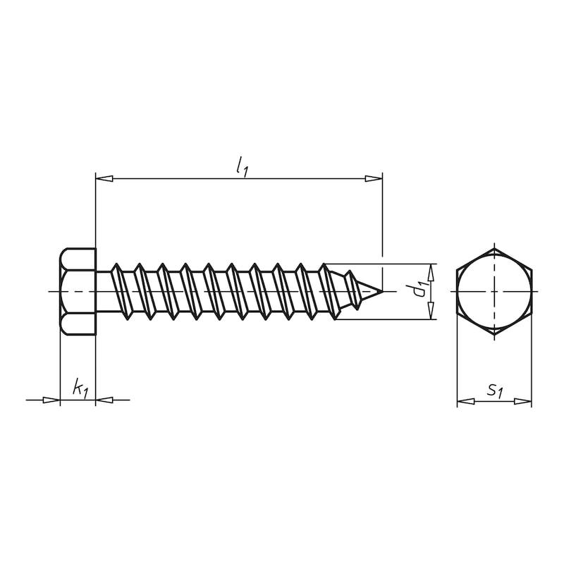 Selbstbohrende Fassadenbauschraube mit Sechskantkopf Faba<SUP>®</SUP> Typ A - 2