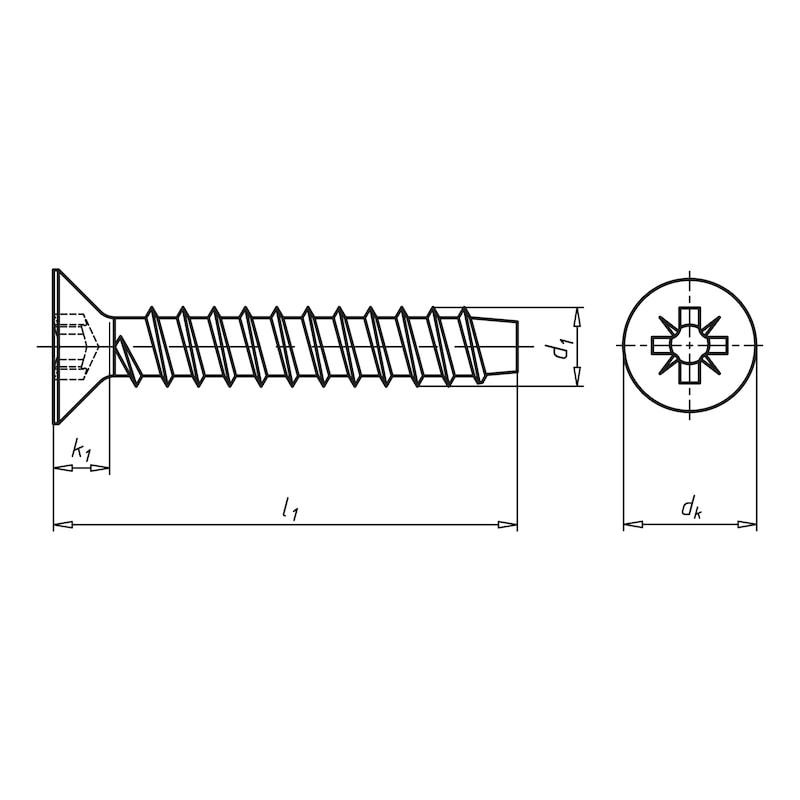 Senk-Blechschraube Form F mit Kreuzschlitz Z - 2