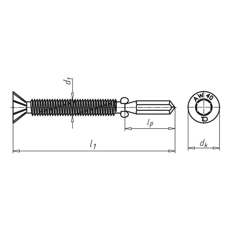 Flügel-Bohrschraube Senkfräskopf mit AW-Antrieb pias<SUP>®</SUP> - 2