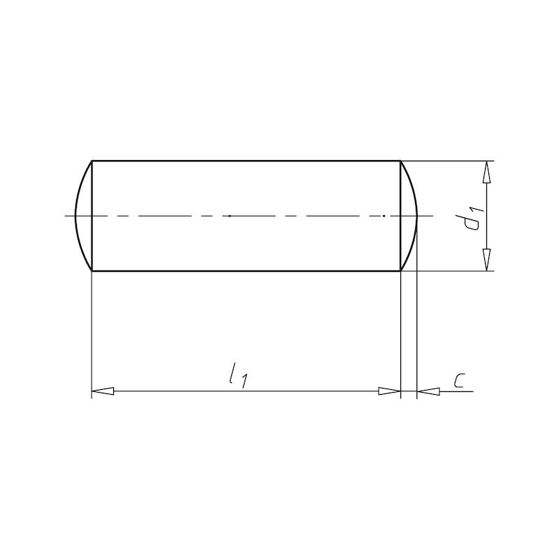 Goupille cylindrique, non trempée à bouts ronds - 2