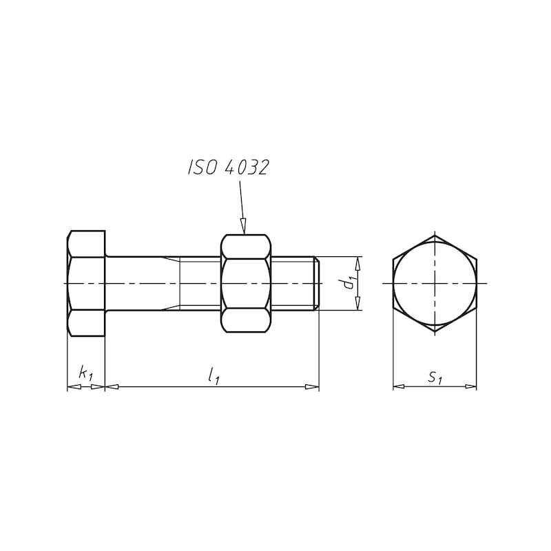 Bullone esagonale con filetto parziale, ASSIEMI SB DIN EN 15048-1 - 2