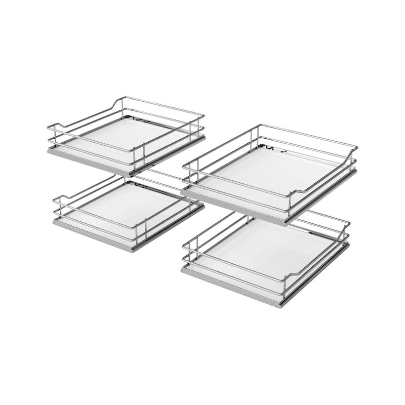 Korb-Set für Eckschrank-Schiebebeschlag VS COR Flex - ZB-FLCO-ECKSHRSHIEBBSHLG-KB-SET-PR-1200