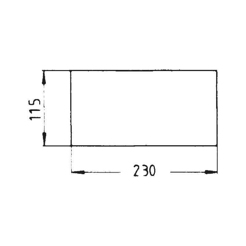 Nylon-Schleifvlies - SHLFVLI-BGN-A100-115X228MM