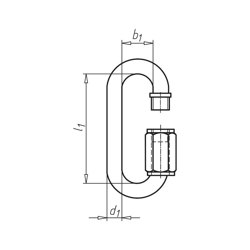 Schnellverschluss  für Kette - 2