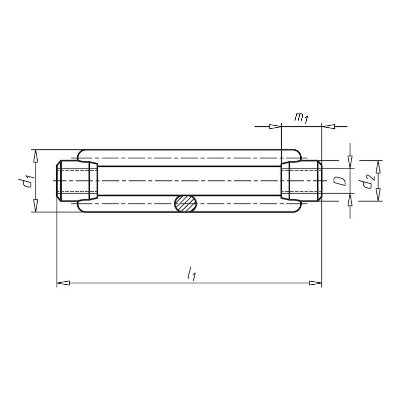 Spannschlossmutter offene Form - SPNSHLOMU-DIN1480-A4-M16