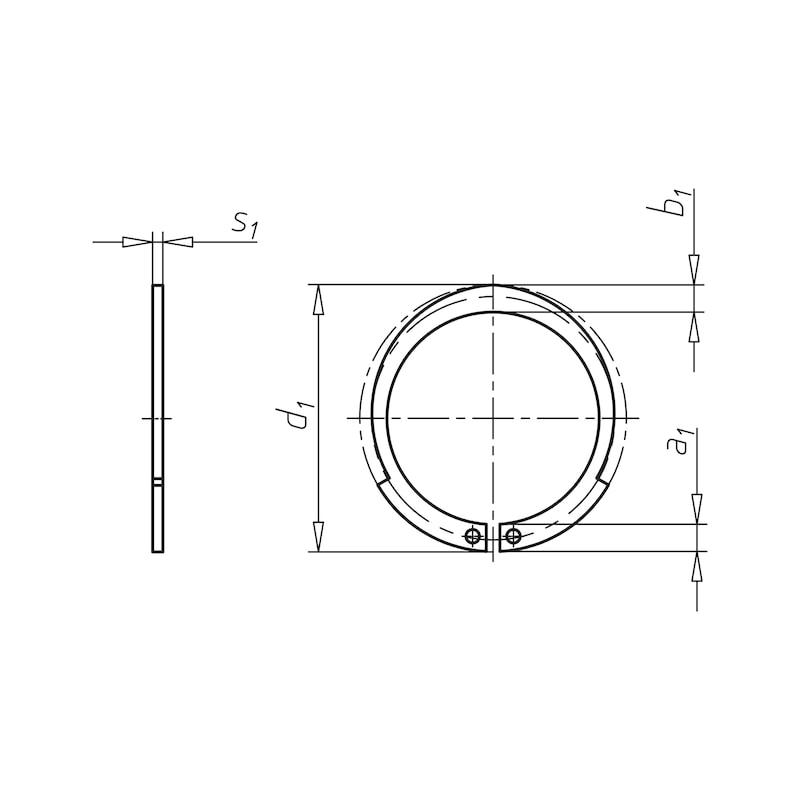 Sicherungsring Form JV für Bohrung - 2