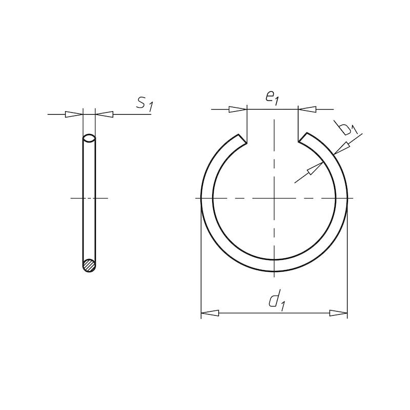 Runddraht-Sprengring und -Sprengringnute Form RB für Bohrungen - 0