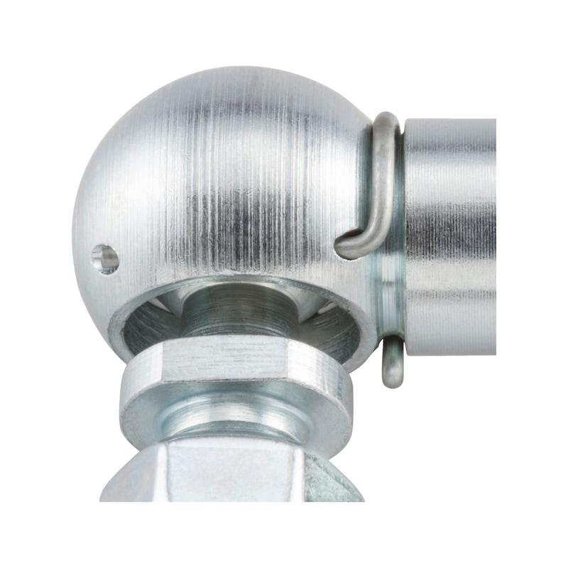 Rotule d'articulation avec circlips de retenue et étrier de sécurité TypeCS - 3