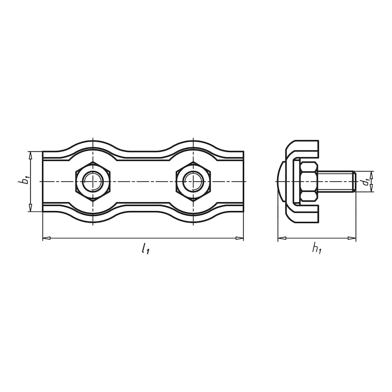 Morsetto per fune Duplex - MORSETTO-P/FUNE-METALLICA-TIPO2-A4-D3