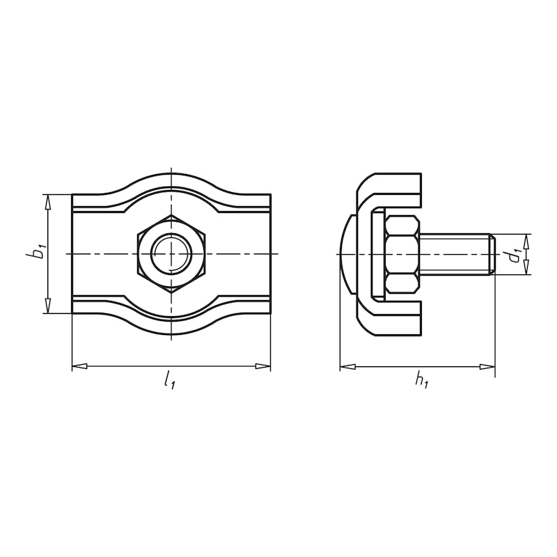 Morsetto per fune - MORSETTO-P/FUNE-METALLICA-TIPO1-A4-D6