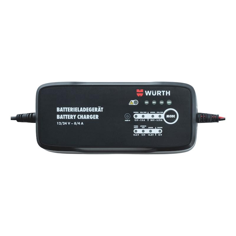 Batterieladegerät 12/24 V 8 A Lithium/Blei 10-240 Ah - LADEGER-BATT-KFZ-12/24V-8/4A-10-240AH