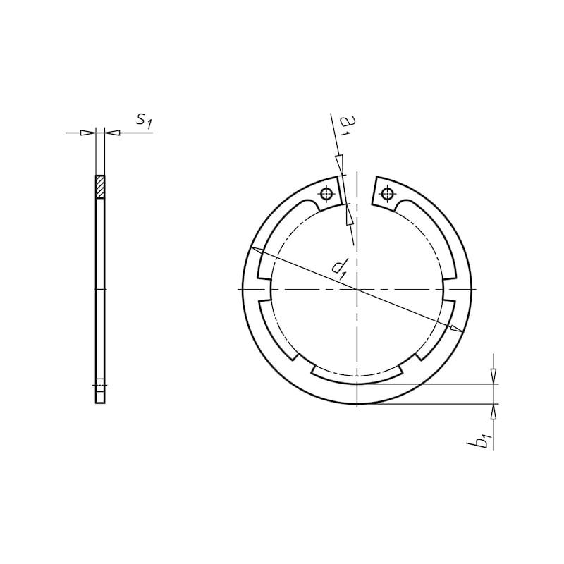 Sicherungsring Form IL für Bohrung - SIRG-BO-IL-40X1,75