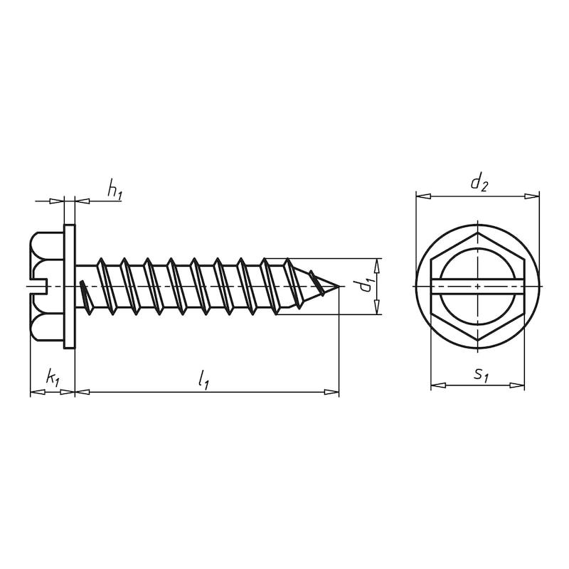 Kombi-Blechbohrschraube mit Scheibe - 2