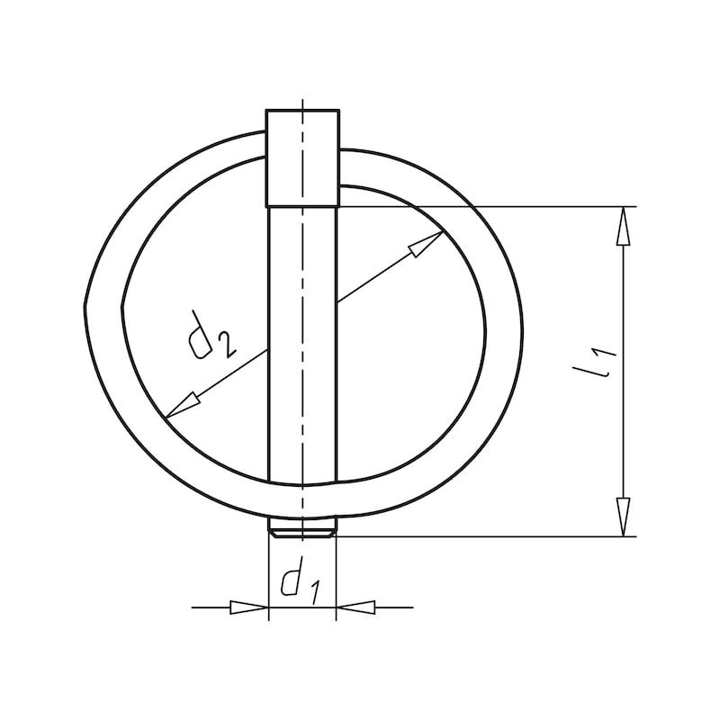 Klappstecker - KLASTE-(A2C)-D4,5X42MM