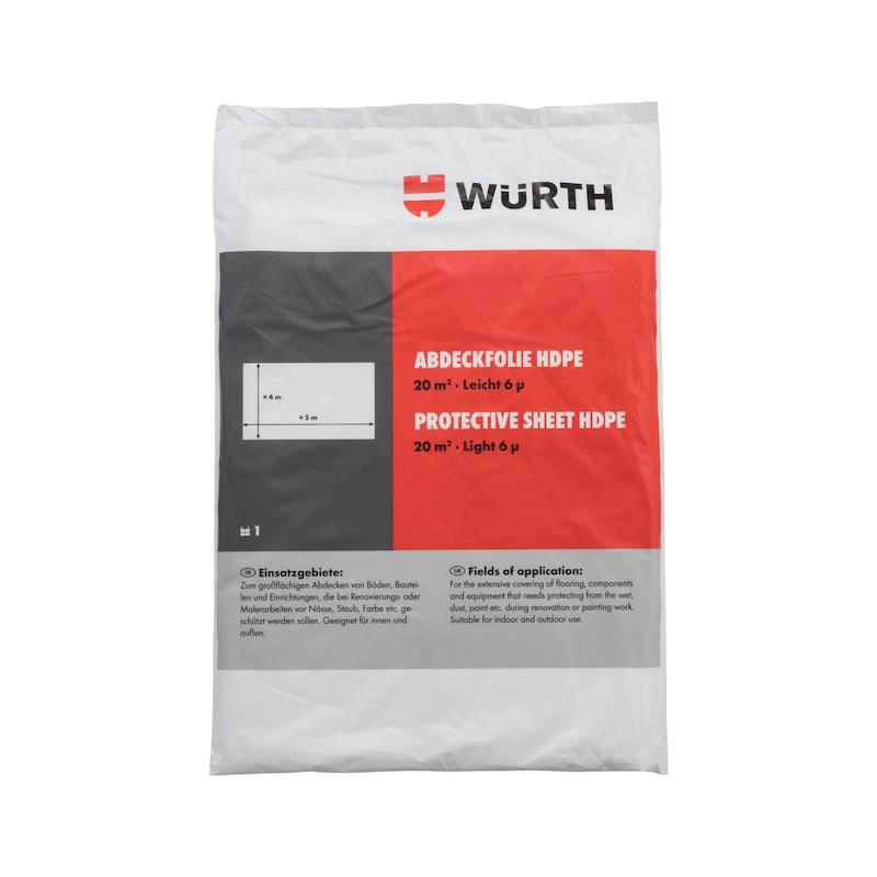 Cobertura de proteção para pintura - COBERTURA PLASTICO PROTEC PINTURA 4X5M