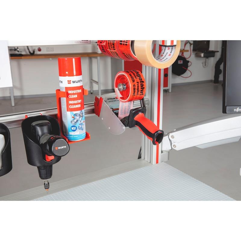 CLIP-O-FLEX<SUP>®</SUP> Halter Packflex front Halterung für Klebeband-Abroller mit Zugriff von vorne - COF-HALTER-PACKFLEX-FRONT