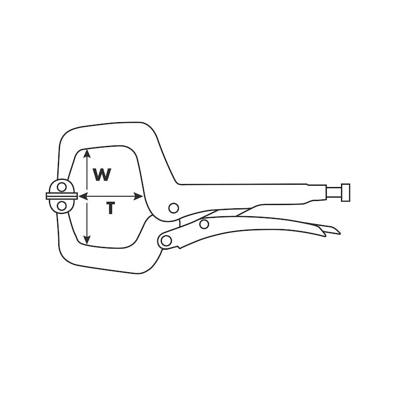 Klemm-Gripzange C-Form parallel - 2