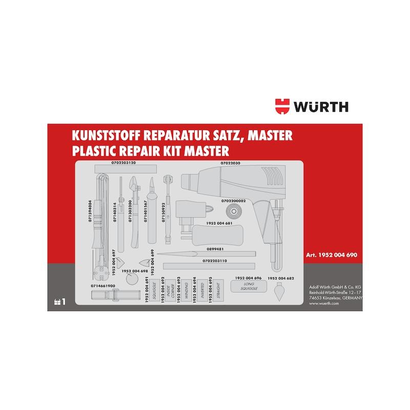 Kunststoff-Reparatur-Satz Master - 6
