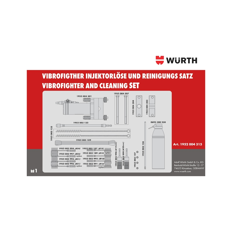 Lösewerkzeug- und Injektor-Sitz-Reinigungs-Satz Vibrofighter - 3