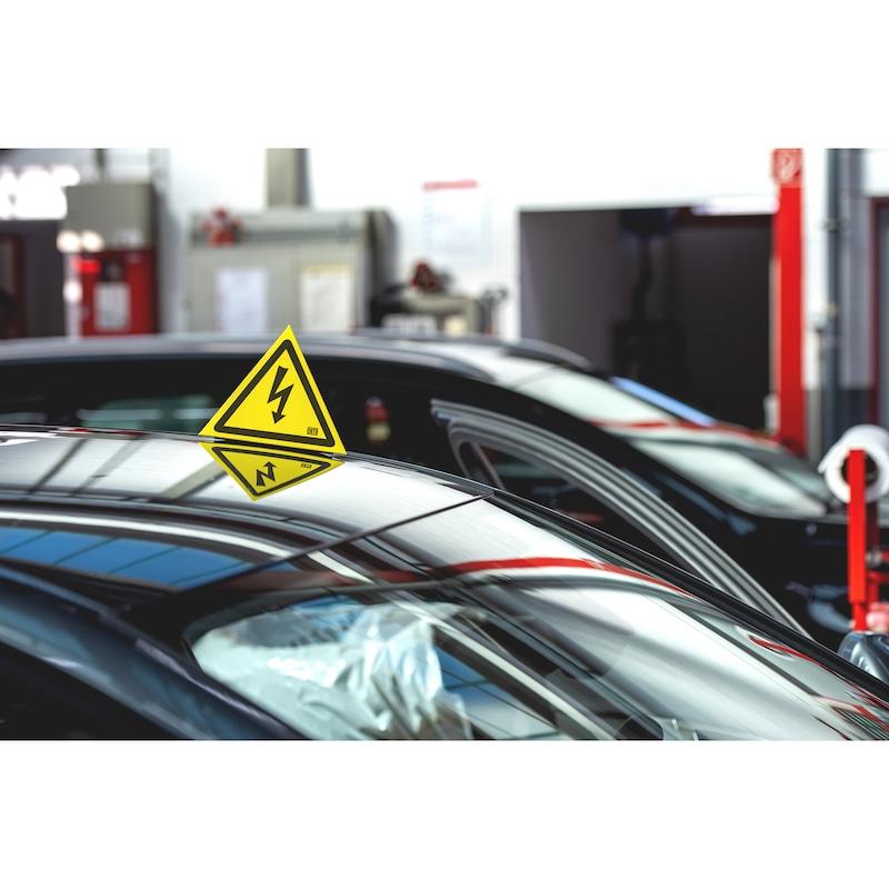 """Tetraedrisches Warnzeichen """"Gefährliche elektrische Spannung"""" - 3"""