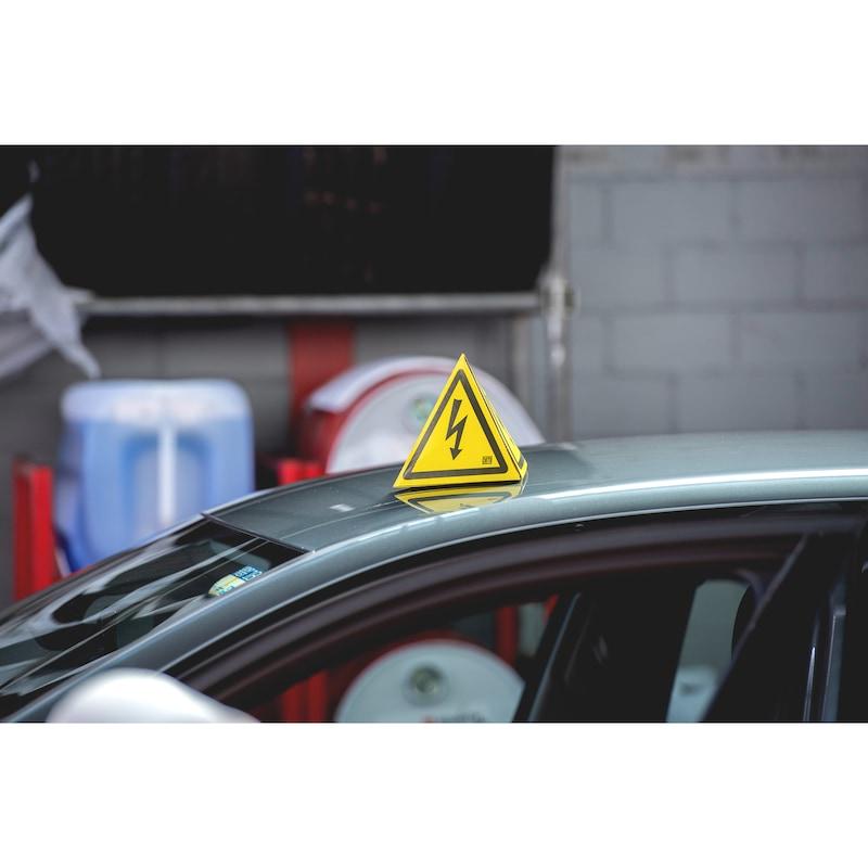 """Tetraedrisches Warnzeichen """"Gefährliche elektrische Spannung"""" - 4"""