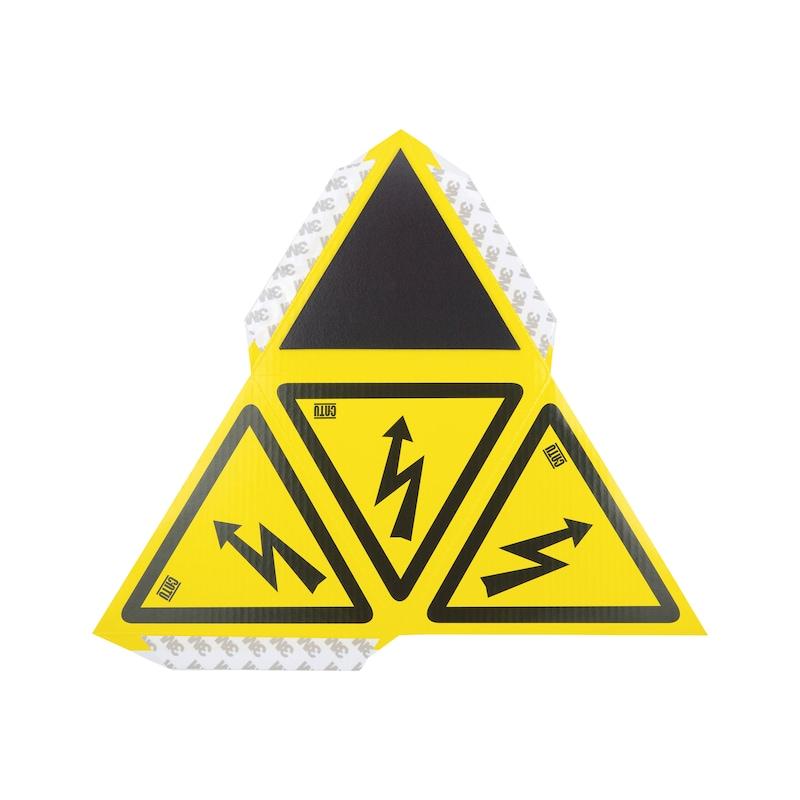 """Tetraedrisches Warnzeichen """"Gefährliche elektrische Spannung"""" - 2"""